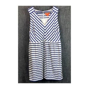 Joe Fresh Stripe V-neck Sleeveless Dress sz 16